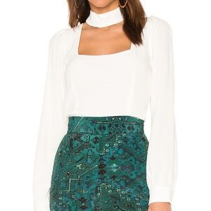 Stone Cold Fox Holloway Blouse in White (2)